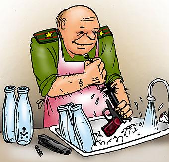 Карикатура: Чистота - залог здоровья!, Глеб Андросов