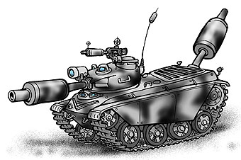 Карикатура: Самый тихий танк, Глеб Андросов