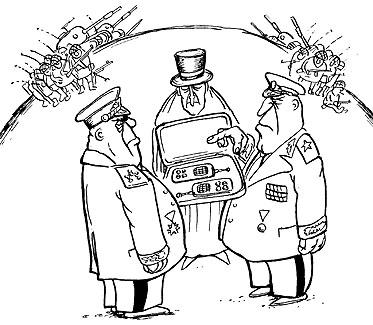 Карикатура: Дуэль, Глеб Андросов