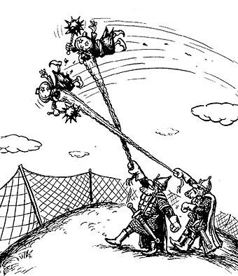 Карикатура: Воздушный бой, Глеб Андросов