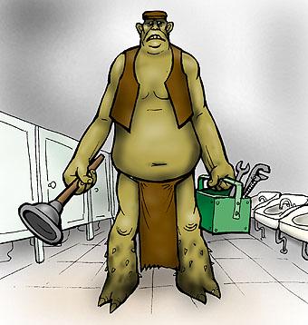Карикатура: Сантехтролль, Глеб Андросов
