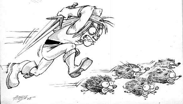 Карикатура: Психоневроз, Глеб