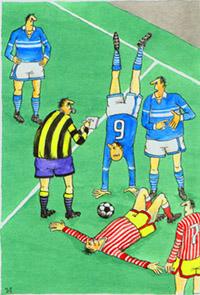 Карикатура: Футбол, Иван Анчуков