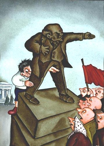 Карикатура: Плохой мальчик, Игорь Ревякин