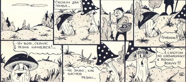 Карикатура: Грибная жизнь, Валерий Барма