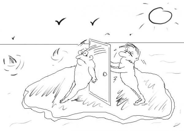 Карикатура: Dvoe, Natasha