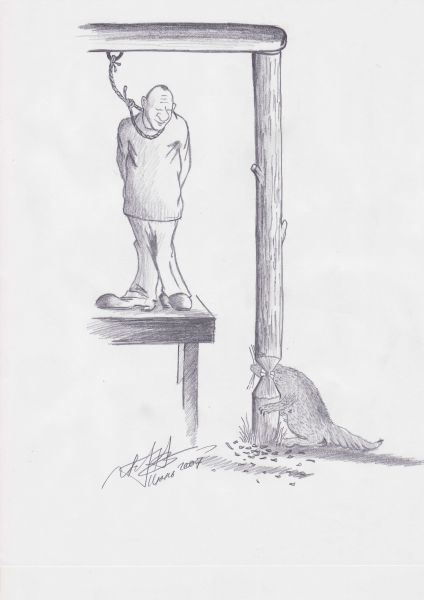 Карикатура: Висилица в Канаде, Игорь Иванченко