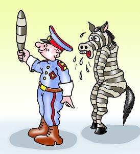 Карикатура: ДПС, Игорь Ревякин