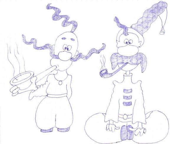 Карикатура: Казаки, Саня