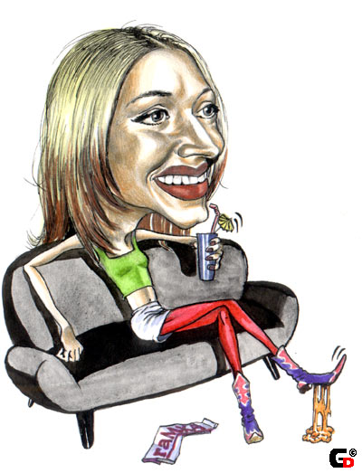 Карикатура: Певица, Анастасия