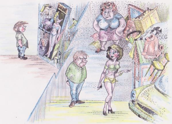 Карикатура: Мир Барби, Владимир