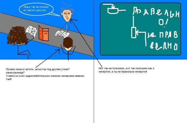 Карикатура: Директор дебил, AxelHard