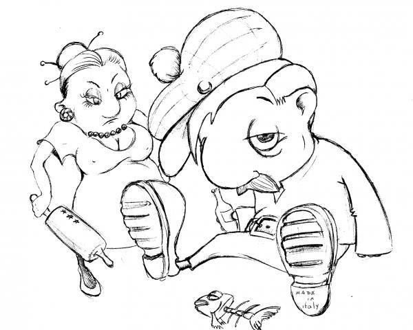 Карикатура: Разборка, Фархад