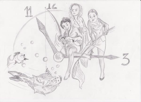 Карикатура: Продавцы бутика-Правила подсечки, Владимир