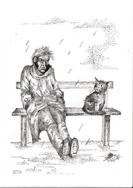 Карикатура: Ну и где твой Кошкин дом?, Владимир