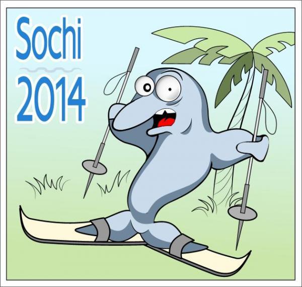 Карикатура: Символ Олимпиады в Сочи, Крис