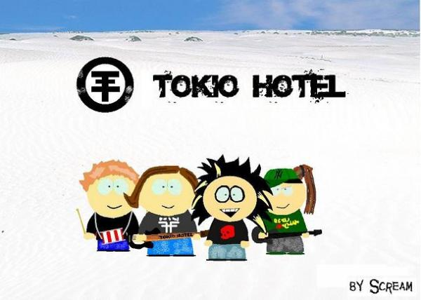 Карикатура: Tokio Hotel from South park, Scream