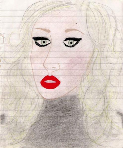 Карикатура: Кристина Агилера, Дарья Тишина