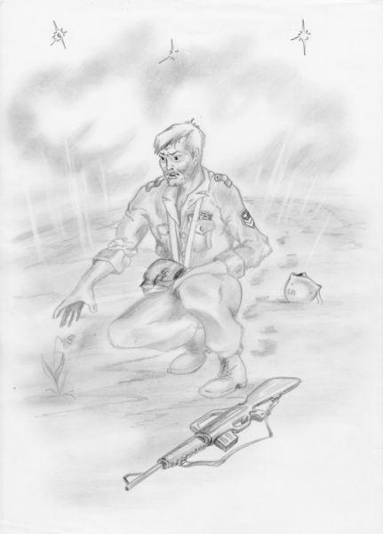 Карикатура: Дружище! А до вспышки я тебя чуть не затоптал!, Владимир