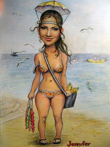 Карикатура: Дж.Ло., Светочка