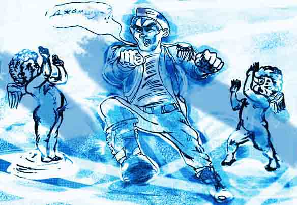 Карикатура: Илья-Громовержец, Игорь