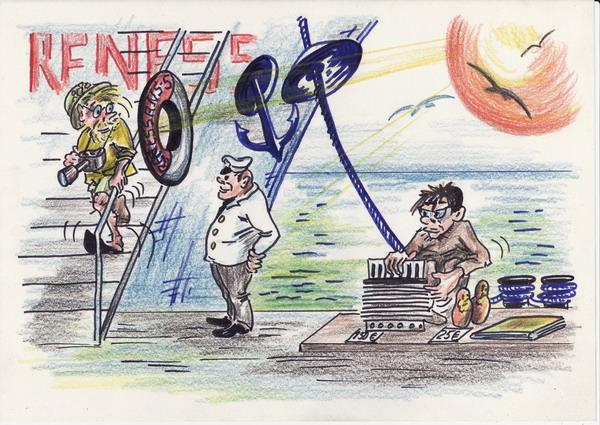 Карикатура: Pensioner и пенсионер, Владимир