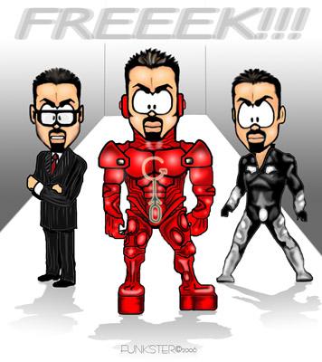 Карикатура: George Michael, Funkster