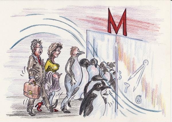 Карикатура: Утро рабочего дня, Владимир