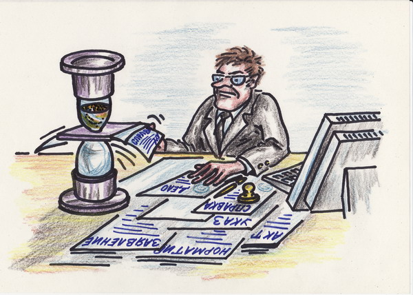 Карикатура: Властелин времени, Владимир