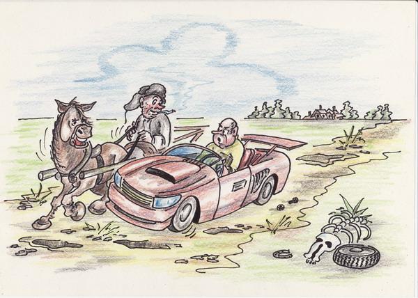 Карикатура: Телеги разные - скорость одна!, Владимир