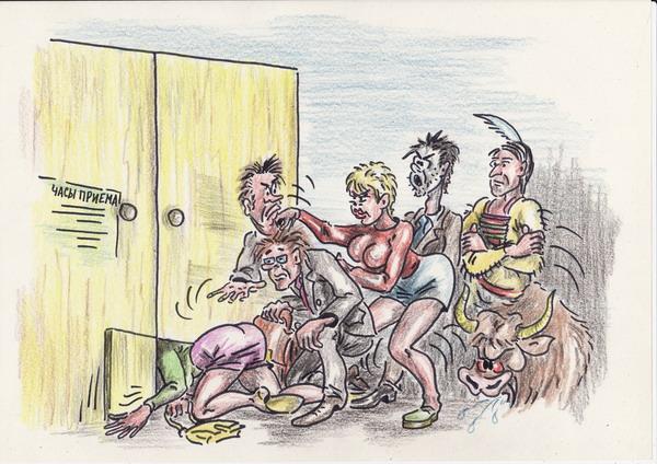 Карикатура: Традиция открытых дверей, Владимир
