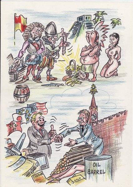 Карикатура: Взаимовыгодное сотрудничество, Владимир