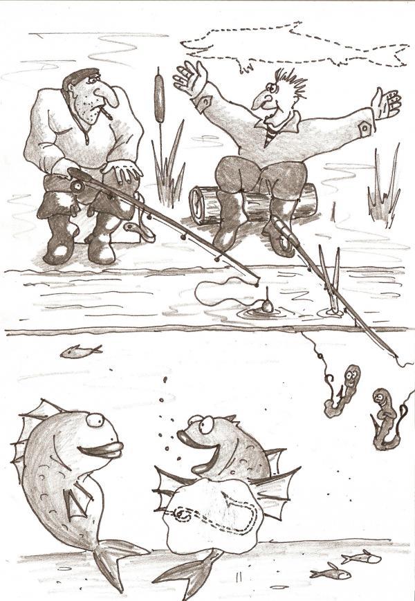 Карикатура: Хвастуны, Серебряков Роман