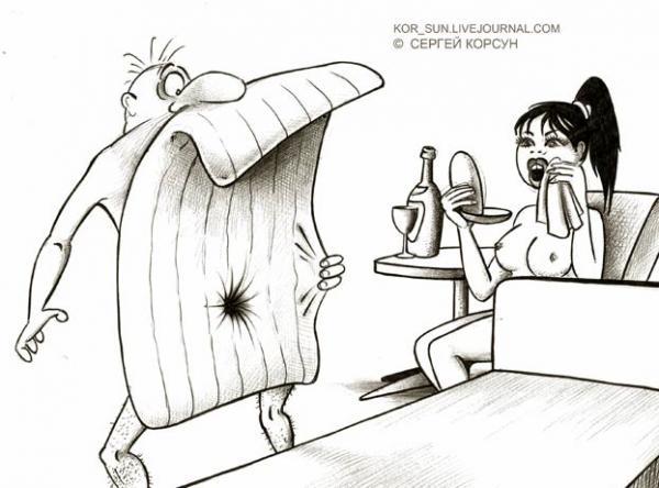 Карикатура: Вакуумная секс бомба, Сергей Корсун