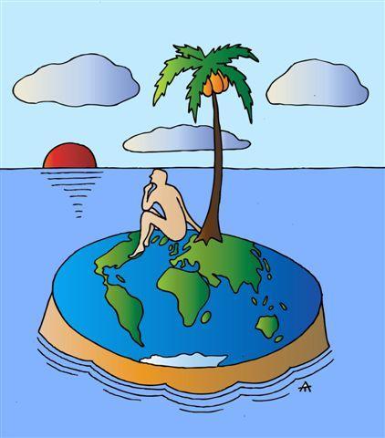 """Карикатура: """"Необитаемый остров"""", Алексей Талимонов"""