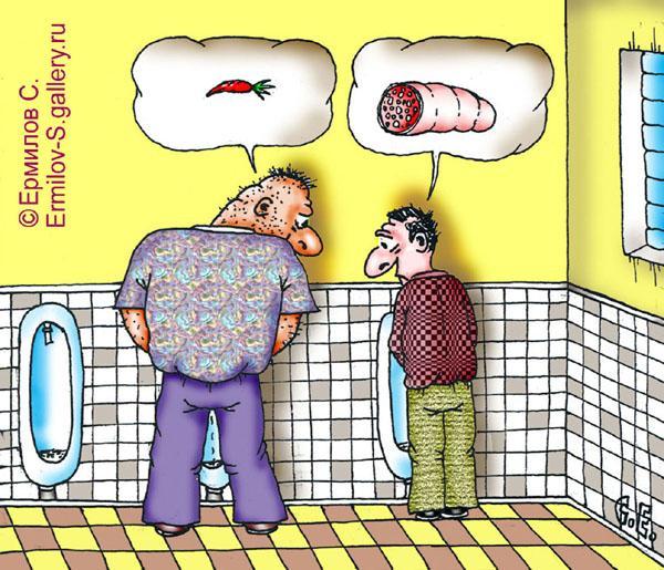 Карикатура: Колбаса, Сергей Ермилов