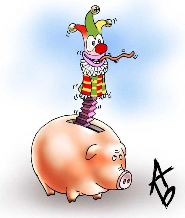Карикатура: Какой кризис?, Андрей Бузов