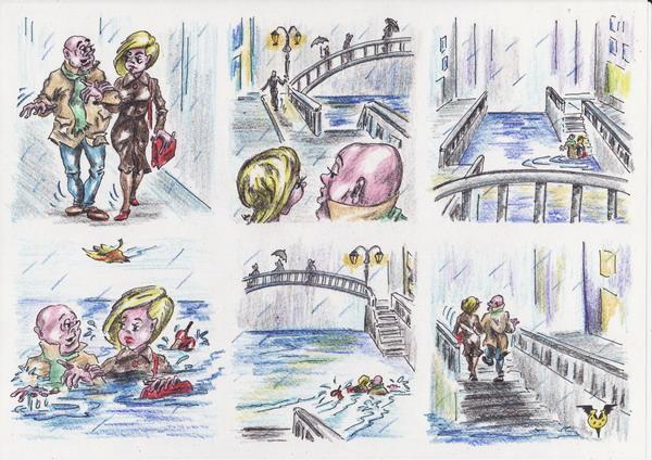 Карикатура: Беседа, Владимир Уваров