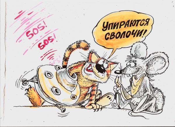 Карикатура: Контакты невысшего уровня, Бауржан Избасаров