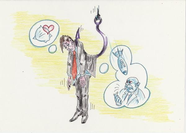 Карикатура: В понедельник крови нет, Владимир Уваров