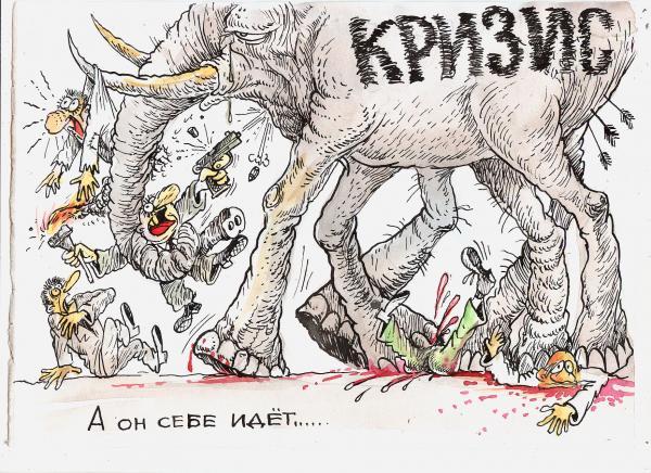 Карикатура: А он себе идет, Бауржан Избасаров