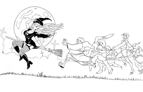 Карикатура: Охота на ведьму, Black Ace