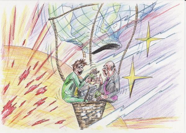 Карикатура: Деловые люди, Владимир Уваров