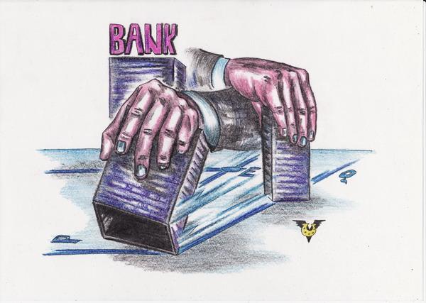 Карикатура: Нанофинансы, Владимир Уваров