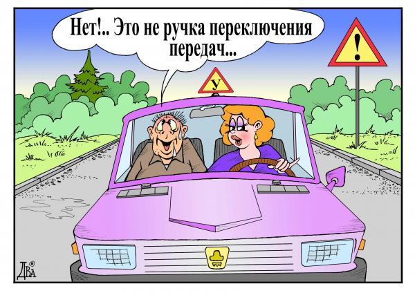 Карикатура: автошкола, виктор дидюкин