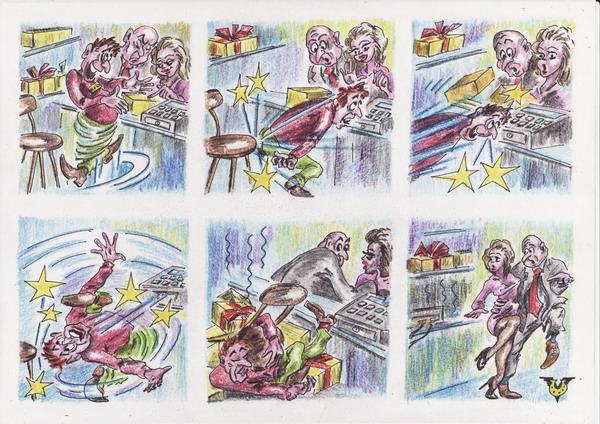 Карикатура: Несостоявшаяся покупка, Владимир Уваров