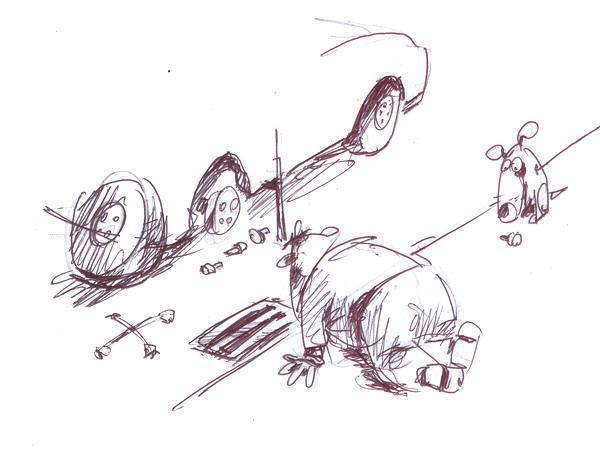Карикатура: Болтик, Iofik