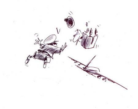 Карикатура: В тамбур вышли покурить..., Iofik