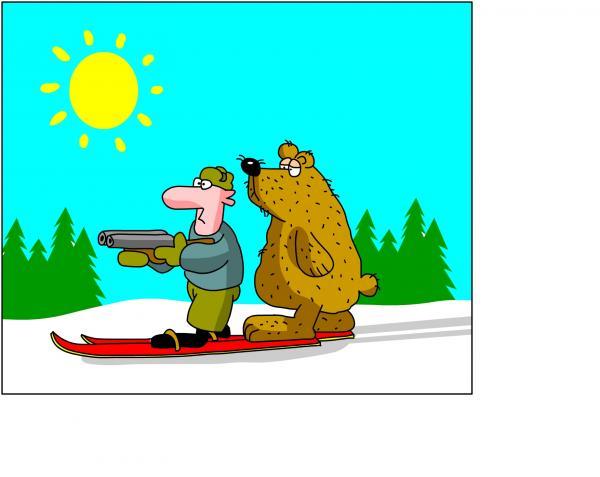 Карикатура: Случай на охоте, Дмитрий Бандура