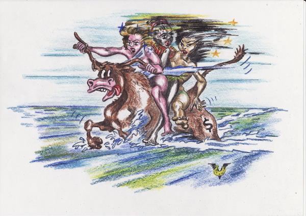 Карикатура: Поедем,красотки,кататься!, Владимир Уваров